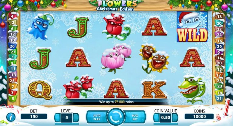 Christmas Flowers Pokie
