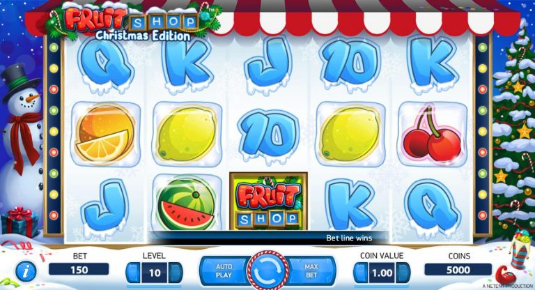 Christmas Fruit Shop Pokie